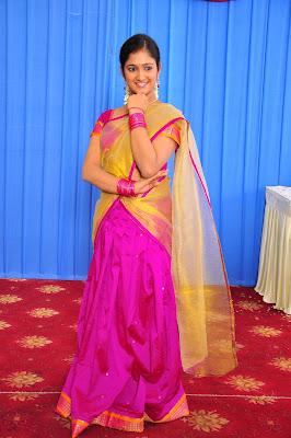 Actress Chiry in Half Saree Photos