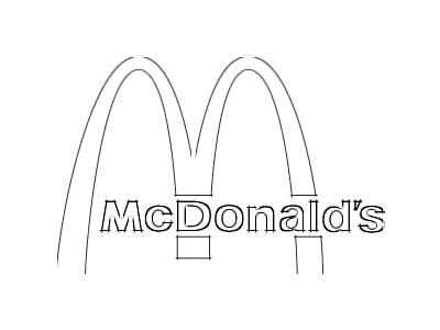 Mcdonalds Logo Sketch Coloring Page