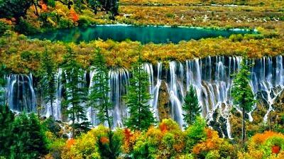 El valle de los nueve pueblos en China