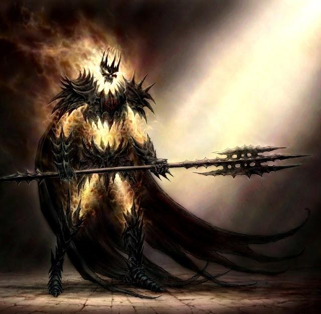 Dragão do abismo, mago negro das trevas, corpo artificial do inferno
