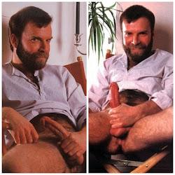 Loiro, barba hirsuta, tesão