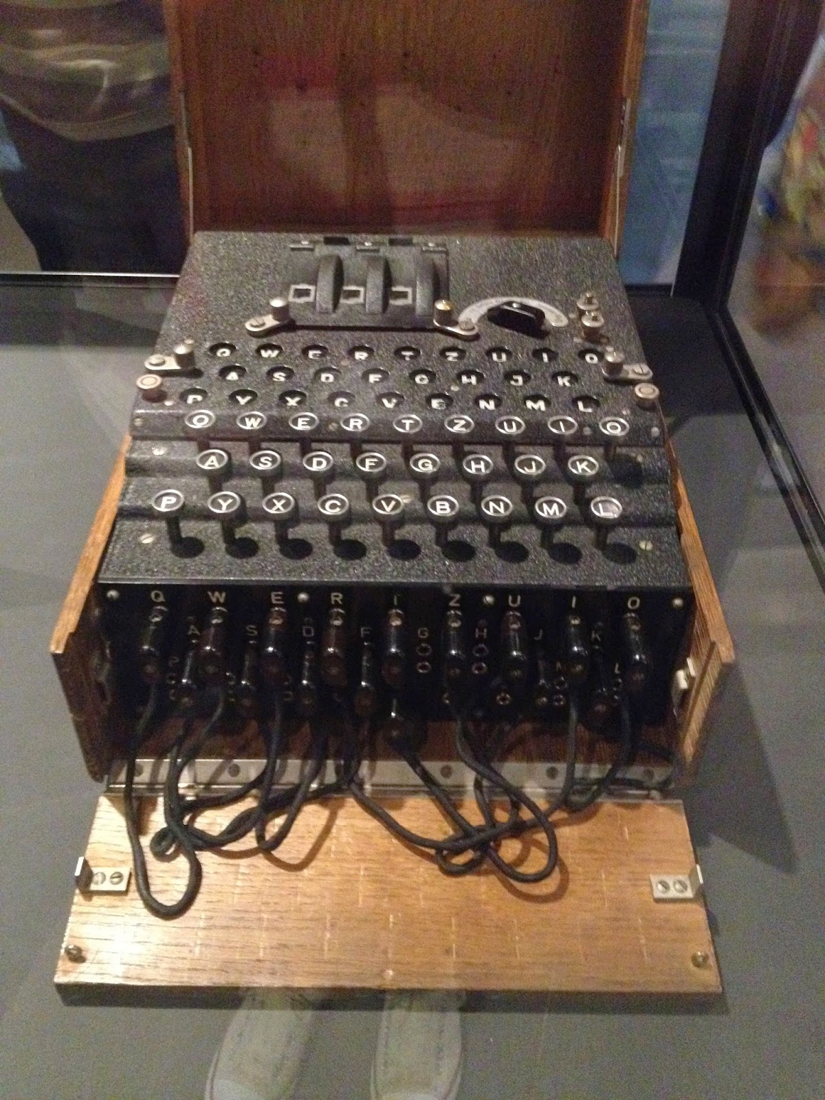 Enigma Machine Imperial War Museum (photo credit: http://researchandramblings.blogspot.com/)