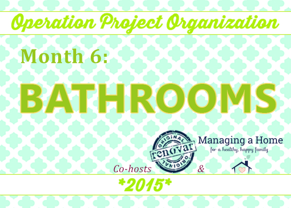 Bathroom Organization Challenge for June
