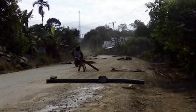 Ruas Jalan Bangko-Kerinci yang Diblokir Warga Merkeh Berhasil diamankan Polres Merangin