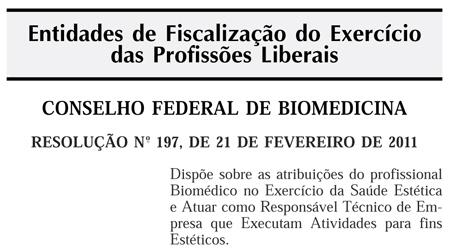 A Biomedicina Estética é nossa!