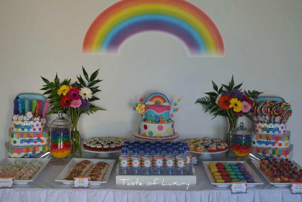 1. Rainbow Party Table