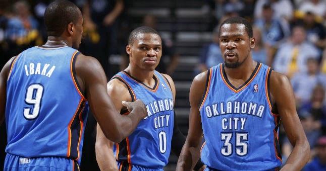 Durant, Westbrook Ibaka Oklahoma City Thunder ver partido gratis online en vivo en directo NBA games watch free live