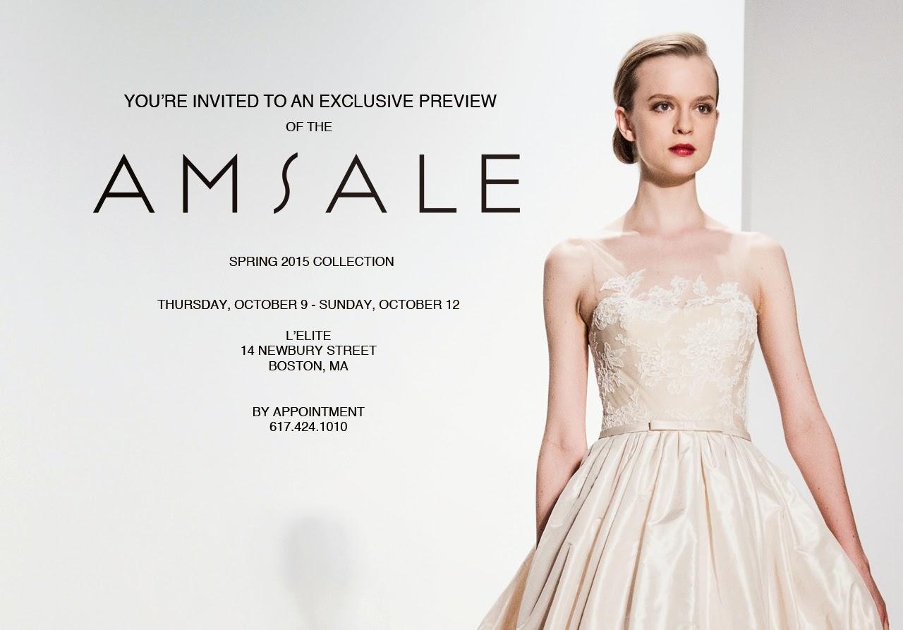 Amsale Bridal Spring 2015 Collection Lelite