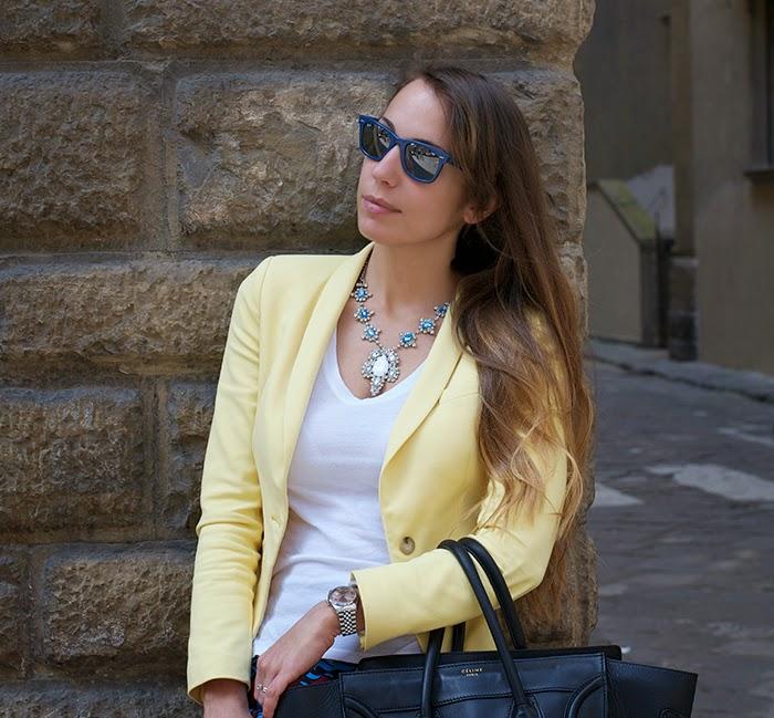 blazer giallo zara