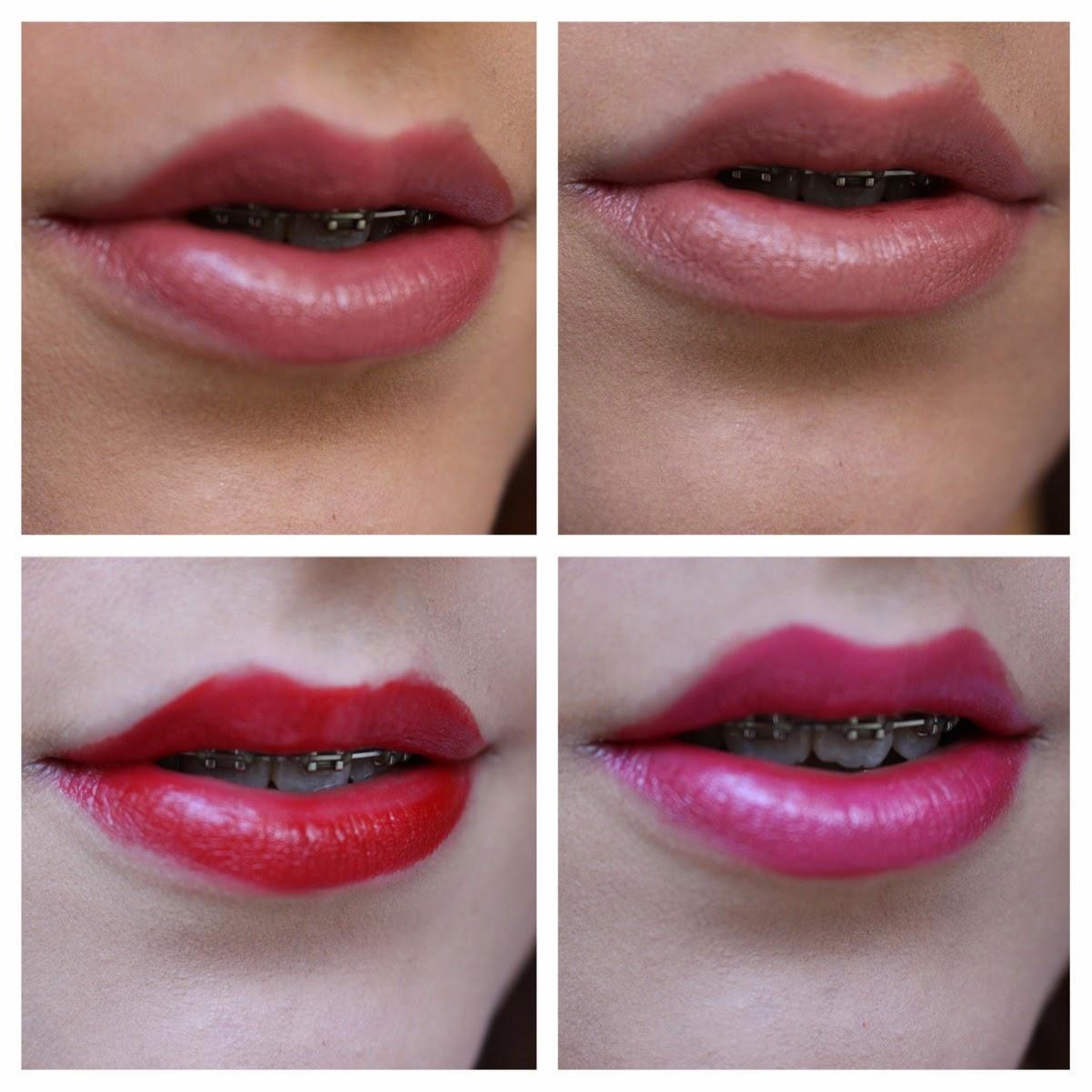 Kate Moss Lipstick 1, 3, 5, 8