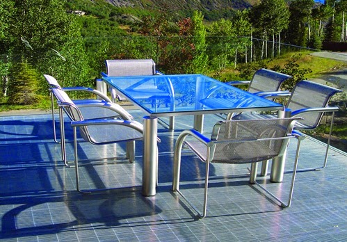 modern steel patio furniture set designs