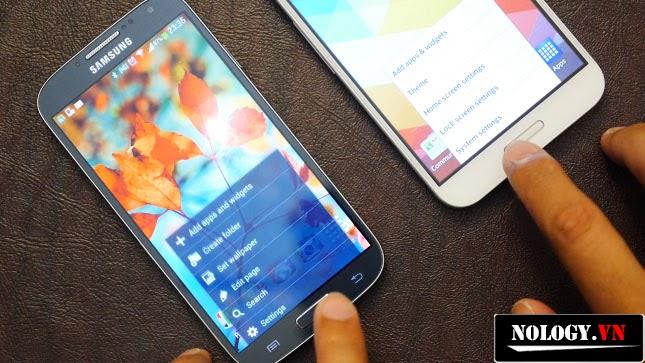 Các nút trên S4 và G Pro bố trí rất giống nhau