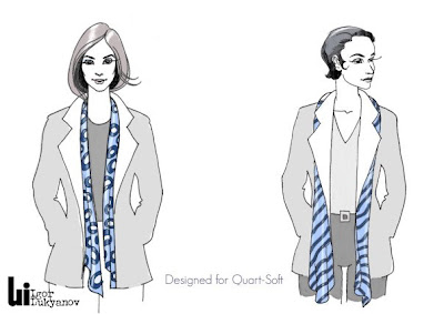 foulard delle donne (illustrazioni di moda)