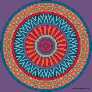 Mixed Patterns Mandala to color