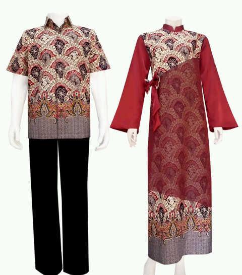 ... batik-gaun+batik-batik+solo-batik+mega+mendung-maroon-jual+batik