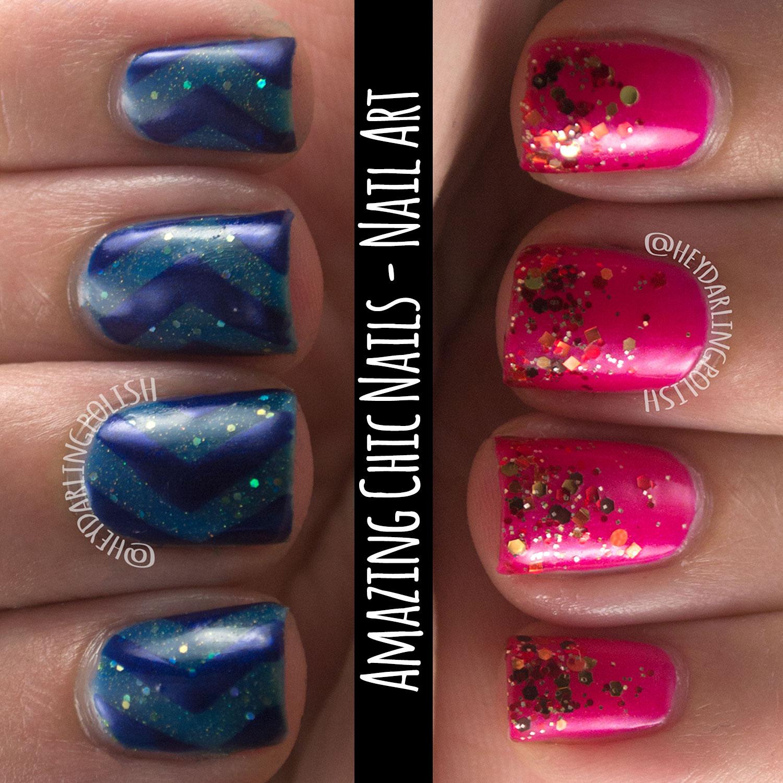 Hey darling polish amazing chic nails nail art - Nail art chic ...