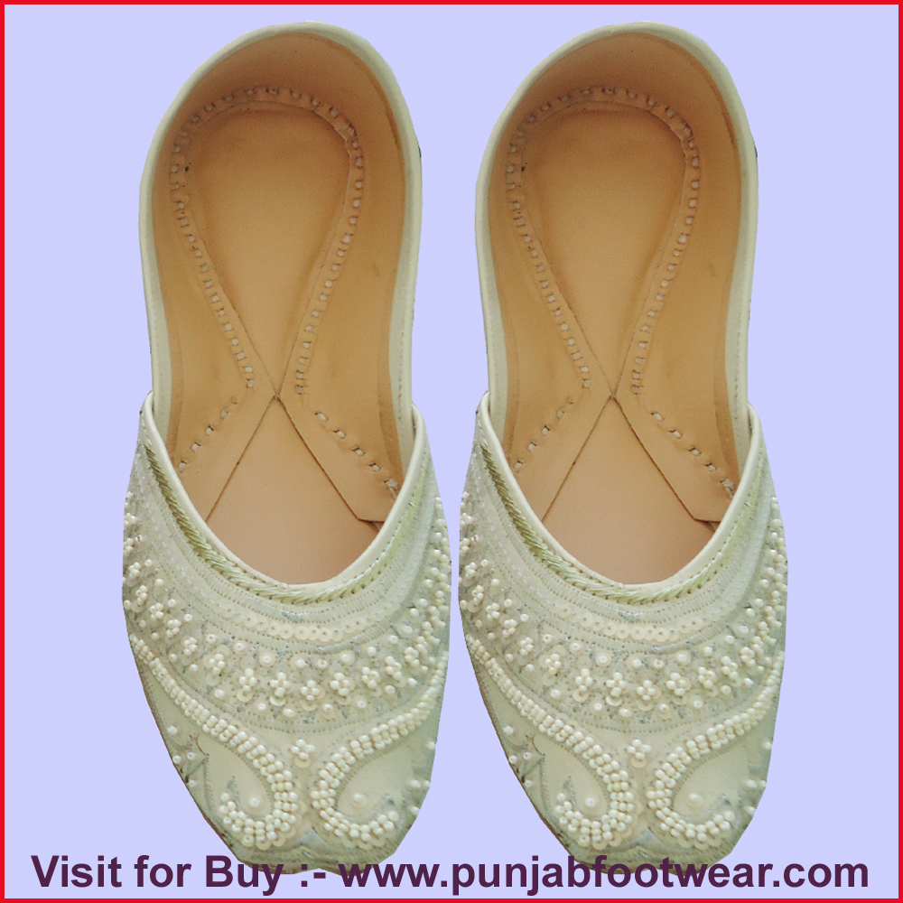 Women beaded shoes indian wedding shoes