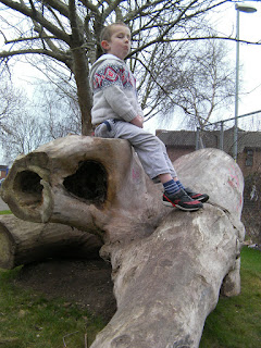 prince albert road playpark giant climbing logs