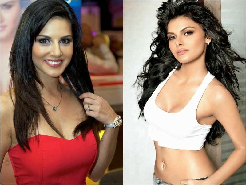Sunny Leone and  Sherlyn Chopra