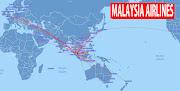 Malaysia Airlines logo. IATA code : MH ICAO code : MAS Callsign : MALAYSIAN (malaysia airlines route map)