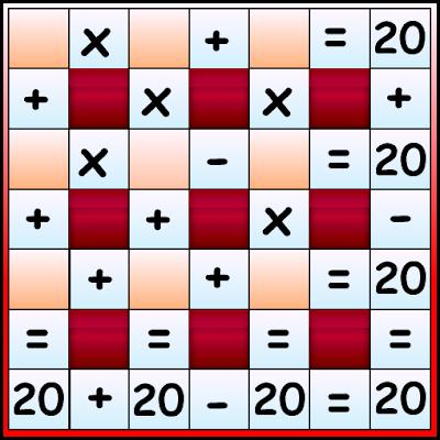 Matematigramas, Crucinúmero, Crucigrama Numérérico
