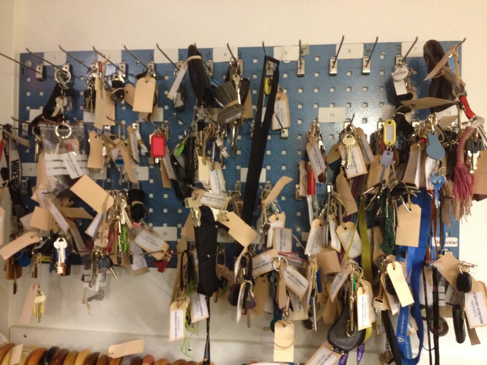 Borttappade nycklar upphittade i december (paraplyerna hängde under) 86fe0ea8313db