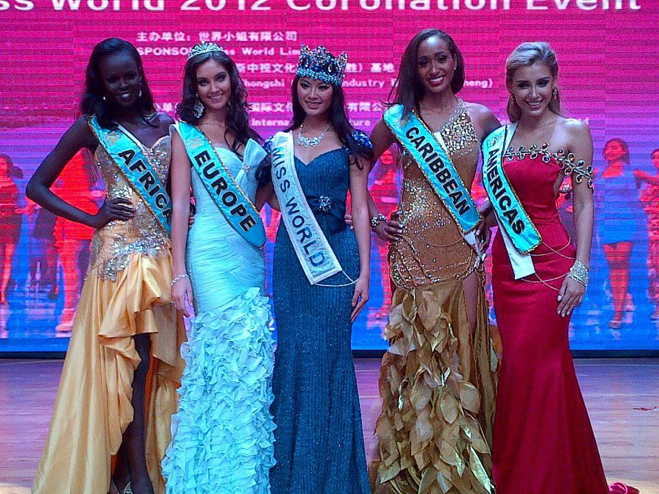 Miss World 2012 Continental Queens of Beauty Winners