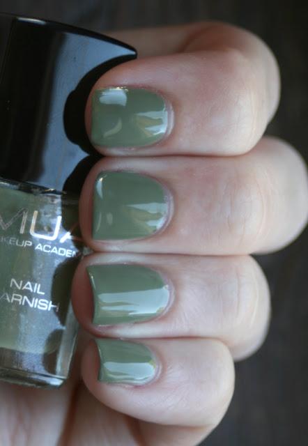 MUA 23 Khaki nail polish swatch