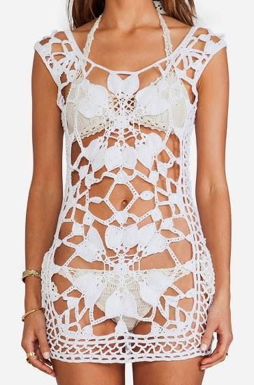 Manolya tığ elbise