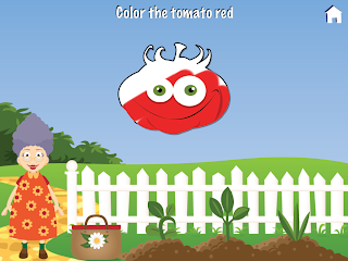 Grandma's Garden iPad / iPhone app, Colouring Mini Game