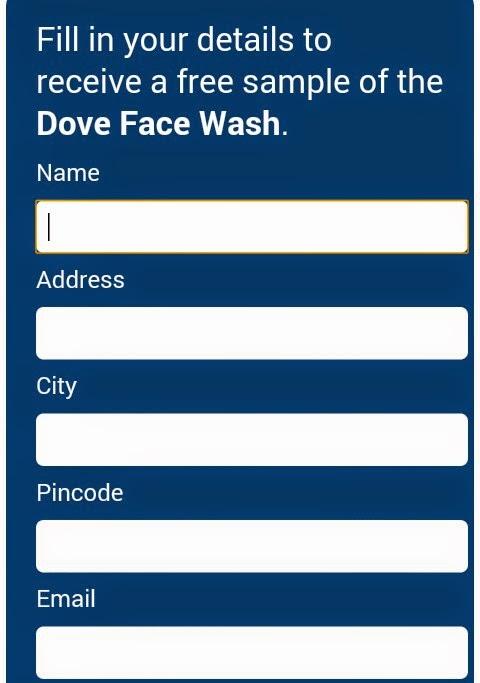 Get Free Sample of Dove Facewash