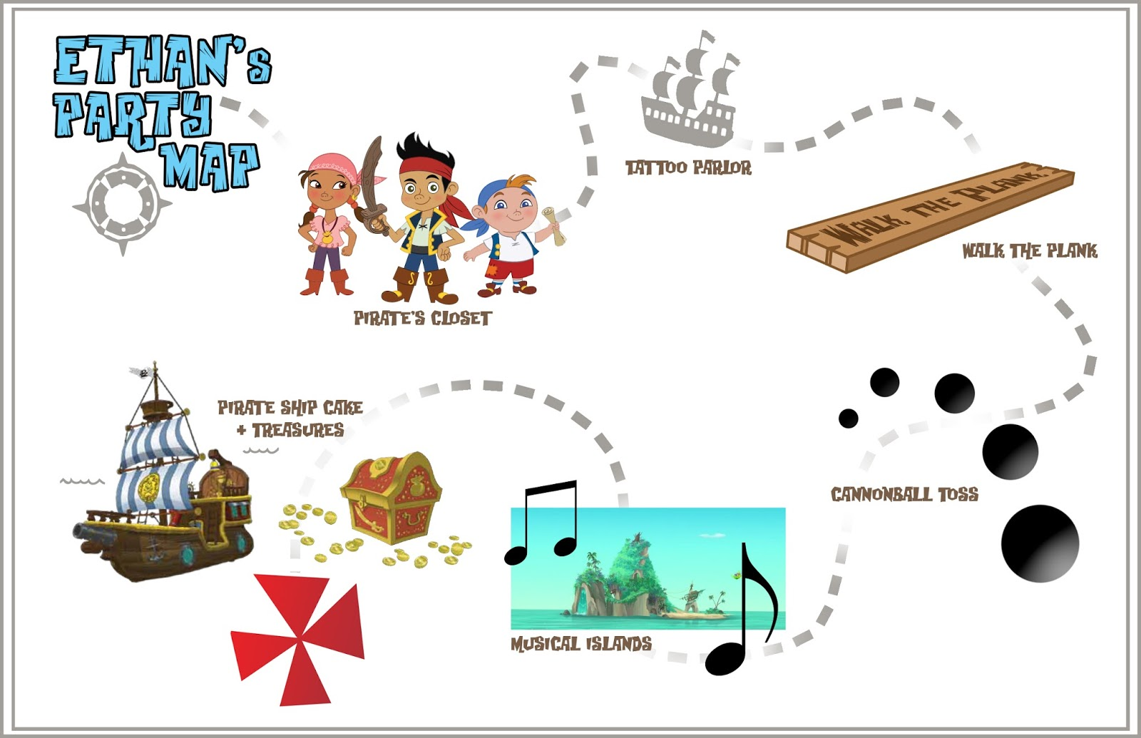Jake And The Neverland Pirates Map