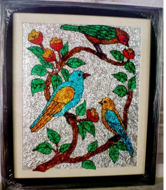 Glass art painting glass art for Best glass painting designs