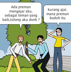 Cerita Gokil Preman aneh bin bodoh