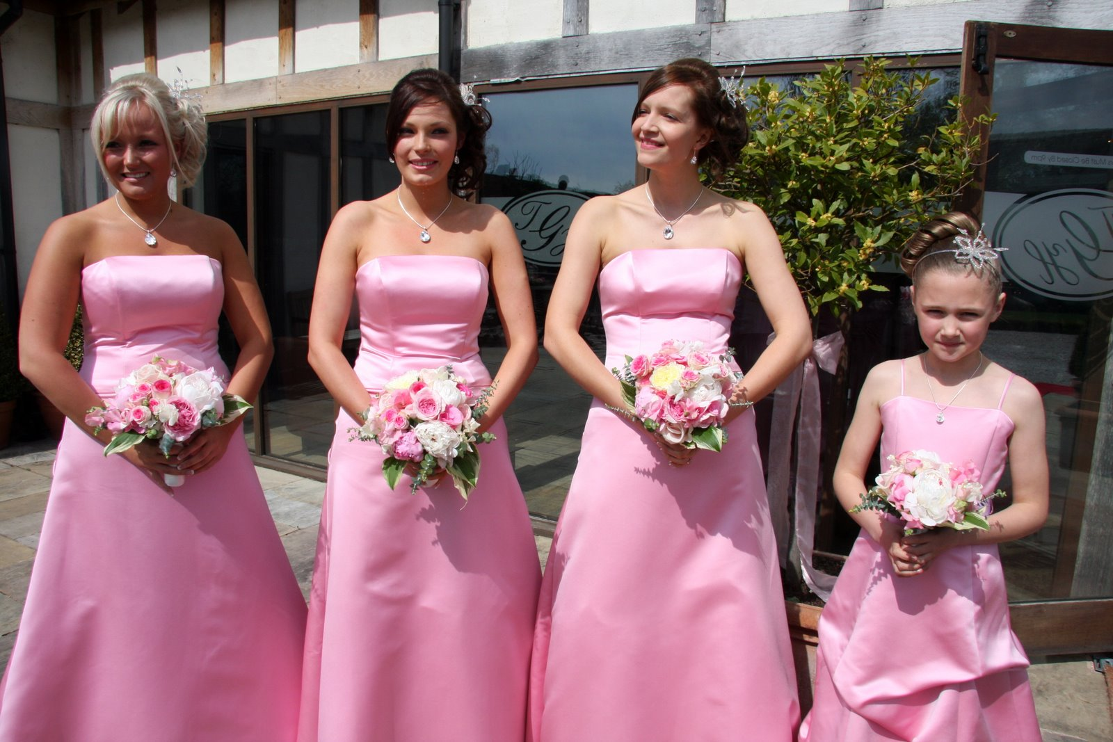 Flower design beautiful bridesmaids bouquets pretty in pink pretty in pink gorgeous pink bridesmaids bouquets dhlflorist Choice Image