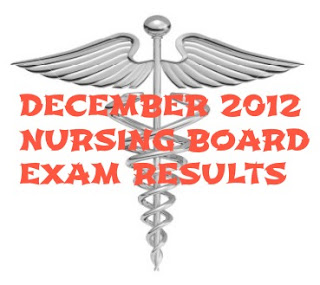 December 2012 Nursing Board Exam Results