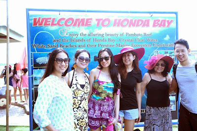 Trisha Sebastian in Honda Bay Puerto Princesa Palawan tour with family