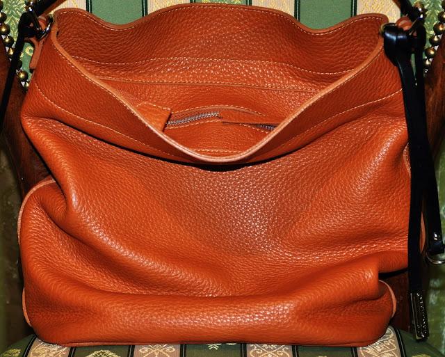 рыжая бесформенная сумка Chiarini
