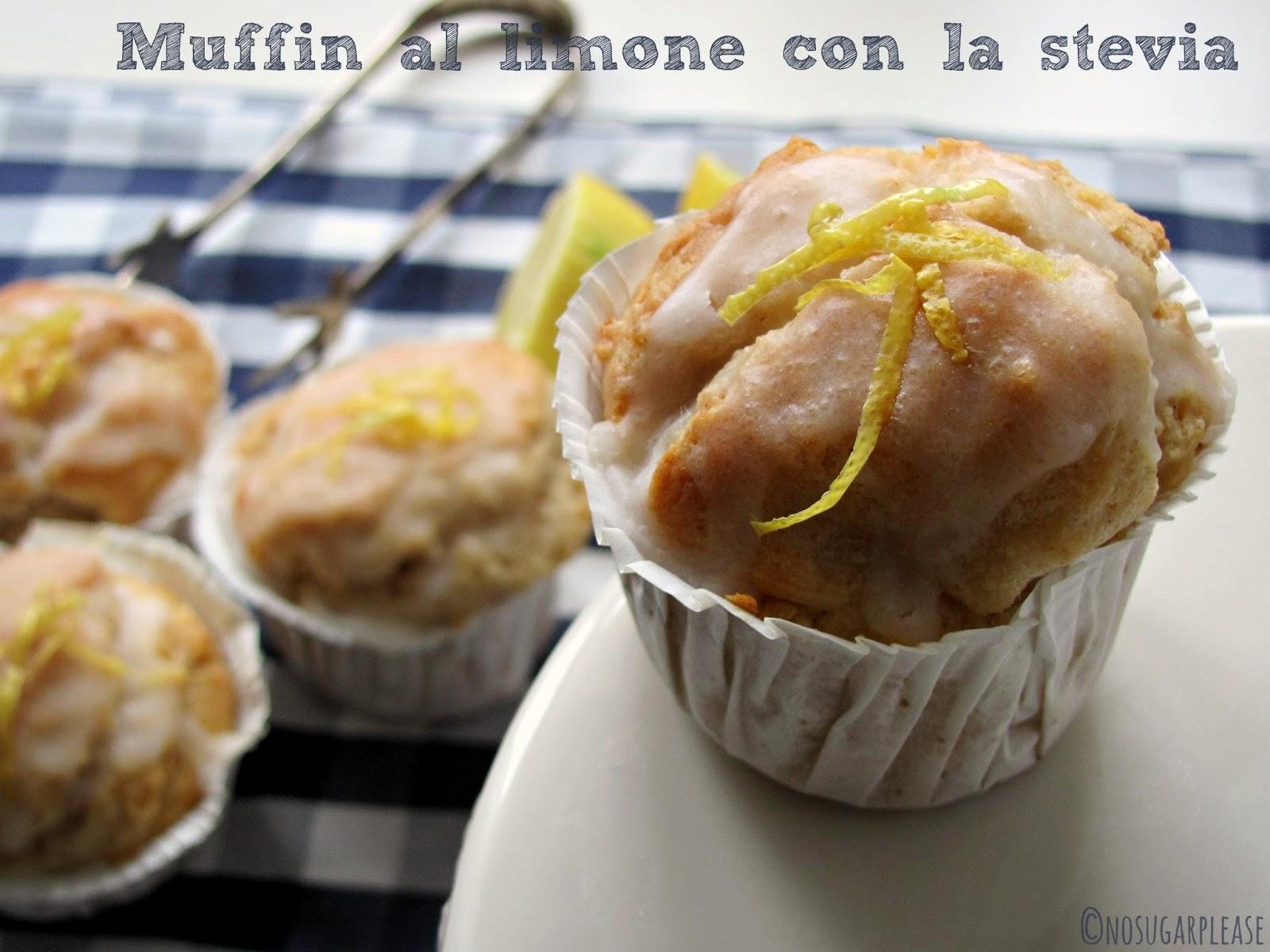 muffin al limone con stevia