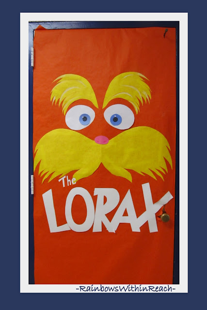 photo of: Classroom Door Decoration for Dr. Seuss book The Lorax