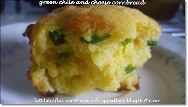 kitchen flavours: Green Chile And Cheese Cornbread : IHCC, Rick ...