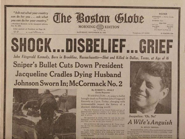 JFK Assassination Newspaper Headlines