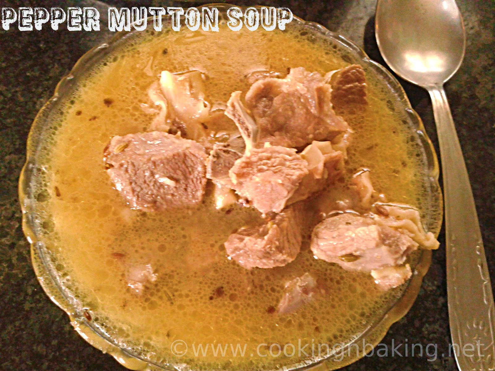Pepper Mutton Soup