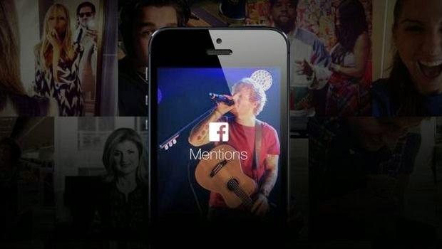 Facebook Hadirkan Aplikasi Mentions Khusus Para Selebritis