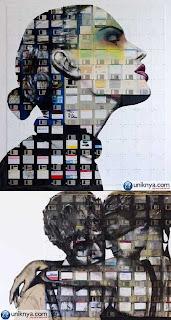 Lukisan Wajah dari Floppy Disc yang Menakjubkan