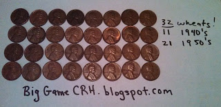 Wheat pennies found searching bank coin rolls for wheat, wheat lincoln penny find CRH