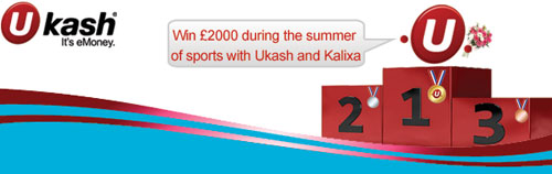 Win one of two £1,000 prizes with Ukash and Kalixa prepaid MasterCard