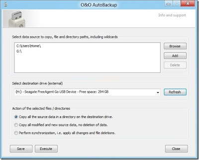 O&O AutoBackup, backup, windows, sincronizar arquivos automaticamente, drive externo