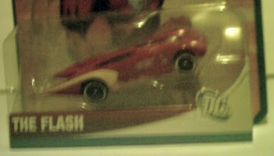 Close up of The Flash Hot Wheels