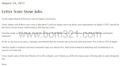 Surat Dari Steve Jobs